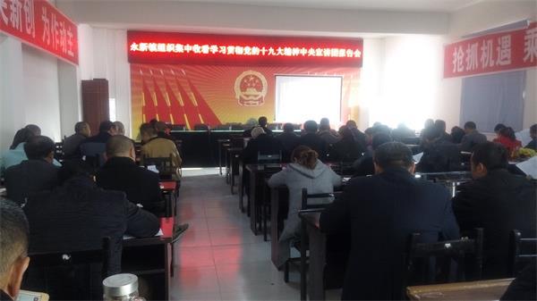 永新镇组织收看学习贯彻党的十九大精神中央宣讲团报告会