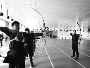 农民建成专业射箭基地组建射箭队备战河北省运会