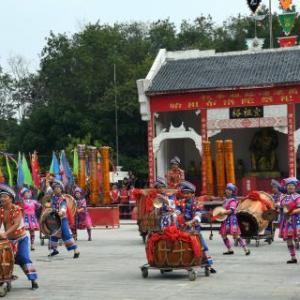 广西举办布洛陀民俗文化旅游节 壮乡风情吸引游客