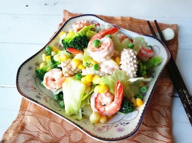 海鲜这样做  清爽又健康  看着就有食欲