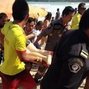 中国游客普吉岛游泳卷海中 无视红旗警告酿成惨剧
